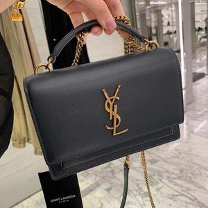 NEW 100% Saint Laurent small Sunset bag w handle